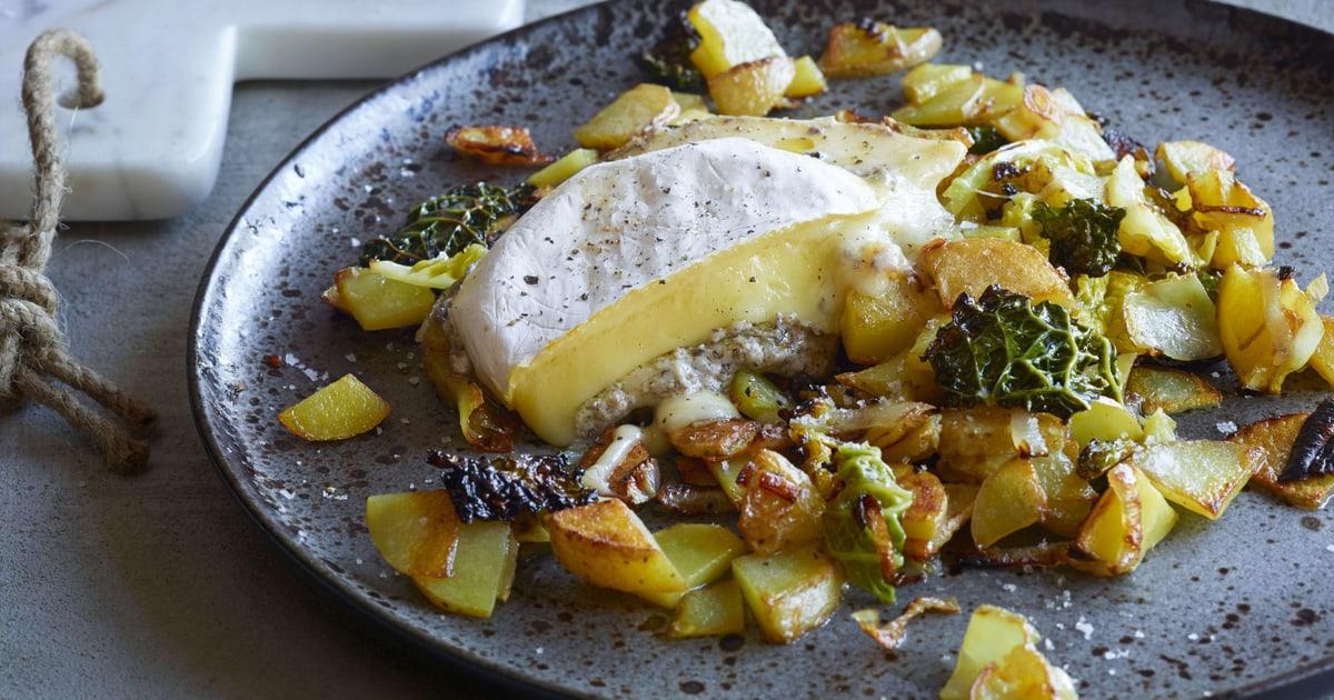 Pommes de terre au chou frisé avec fromage aux truffes ...